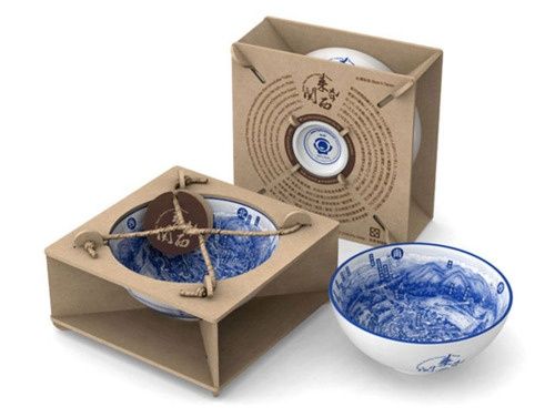 simple and nice protective packaging for this beautiful bowl. PD
