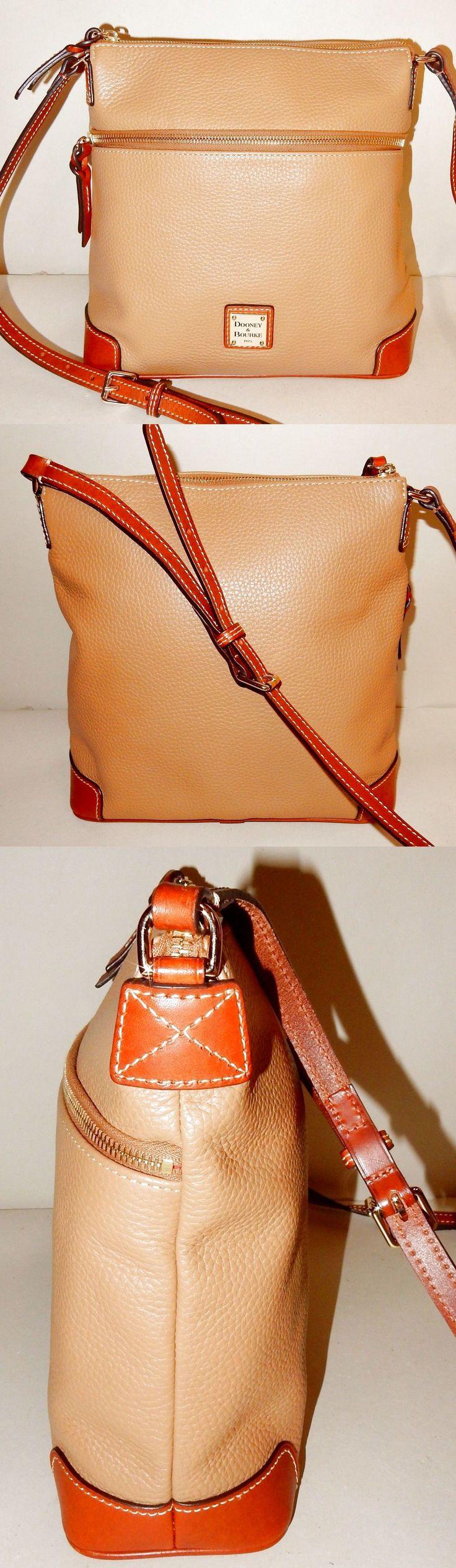 Dooney & Bourke Pebble Leather Crossbody Bag in Desert $69.99