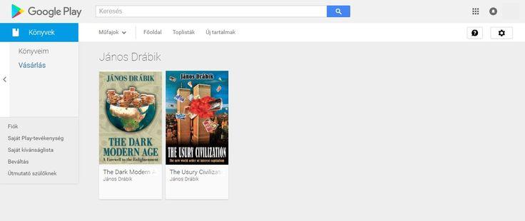 Drábik János Google Play e-könyvei angolul (Android Market) - https://play.google.com/store/books/author?id=J%C3%A1nos+Dr%C3%A1bik