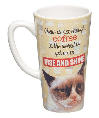 This Grumpy Cat 'Rise and Shine' Latte Mug by Grumpy Cat is perfect! #zulilyfinds