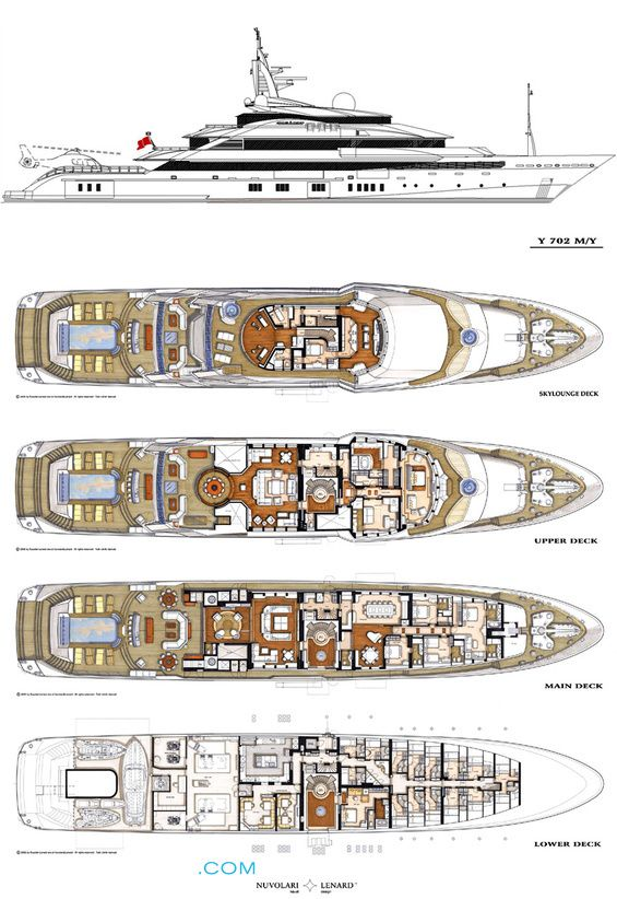 Alfa Nero Luxury Yacht Deck Plans