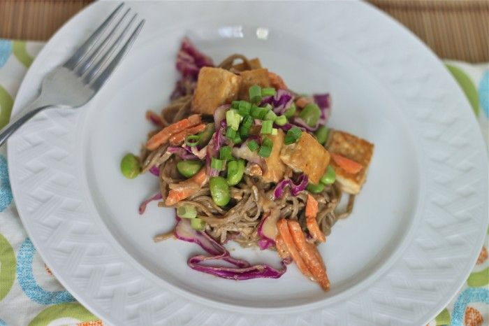 Soba Noodles and Tofu with Spicy Peanut Sauce | TheCornerKitchenBlog ...