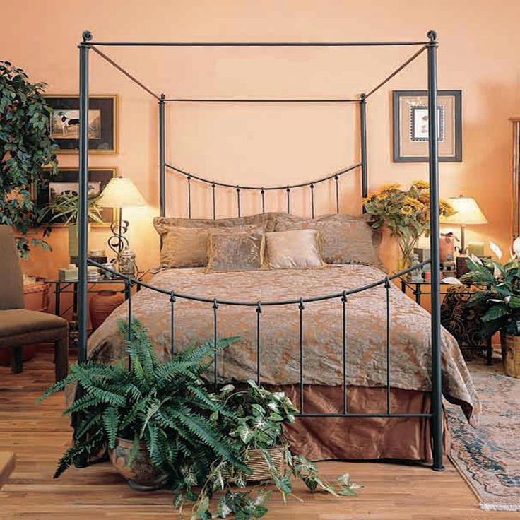 Stone County Eden Isle Canopy Bed King Complete 900 799 | Log, Vintage U0026