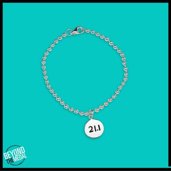 Sterling Silver Half Marathon Bracelet