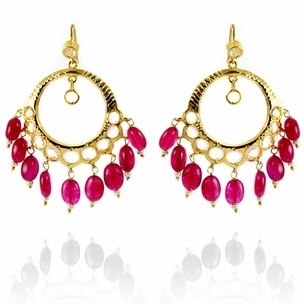 Dipika Earrings http://blossomboxjewelry.com/e1302.html #jewelry #pink #designer #bollywood #earrings #indian