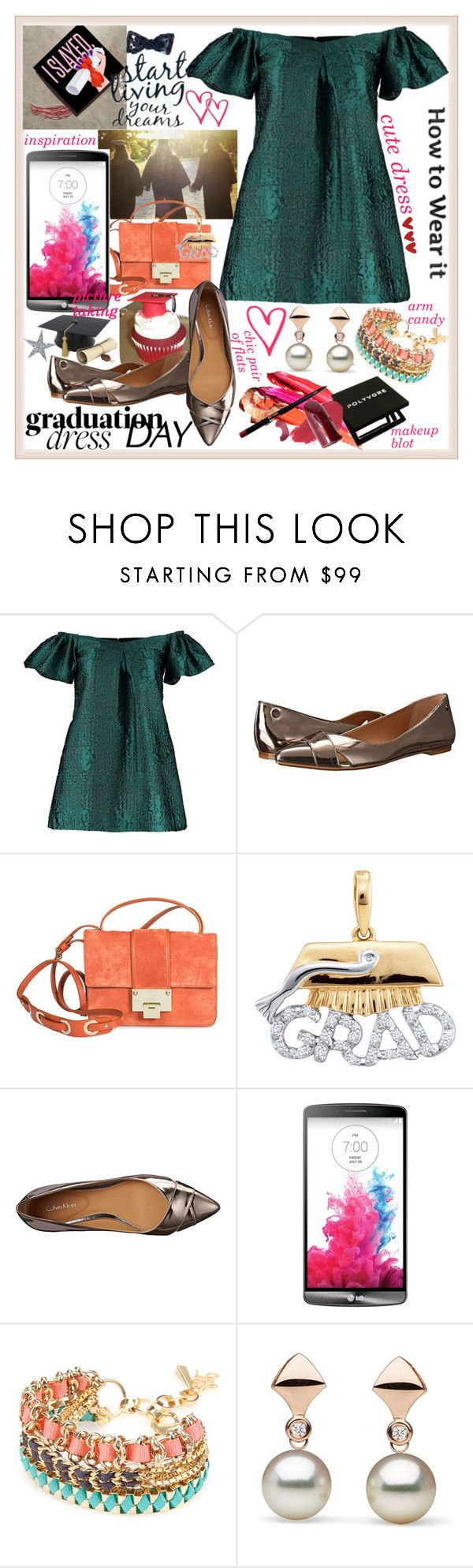 """Graduation Day Dress"" by westcoastcharmed ❤ liked on Polyvore featuring beauty, By Sun, Calvin Klein, Jimmy Choo, John & Pearl and graduationdaydress"