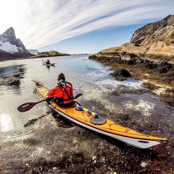 Jaime Sharp's photo of a kayak on the ocean. Norway?