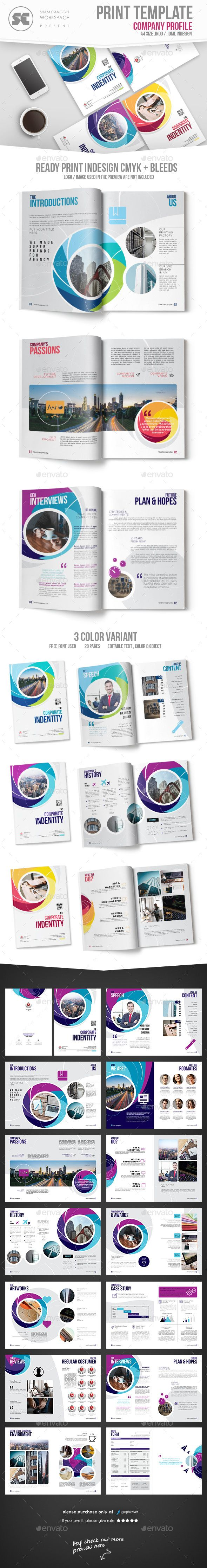 Creative #Company #Profile - Corporate #Brochures Download here: https://graphicriver.net/item/creative-company-profile/20323934?ref=alena994