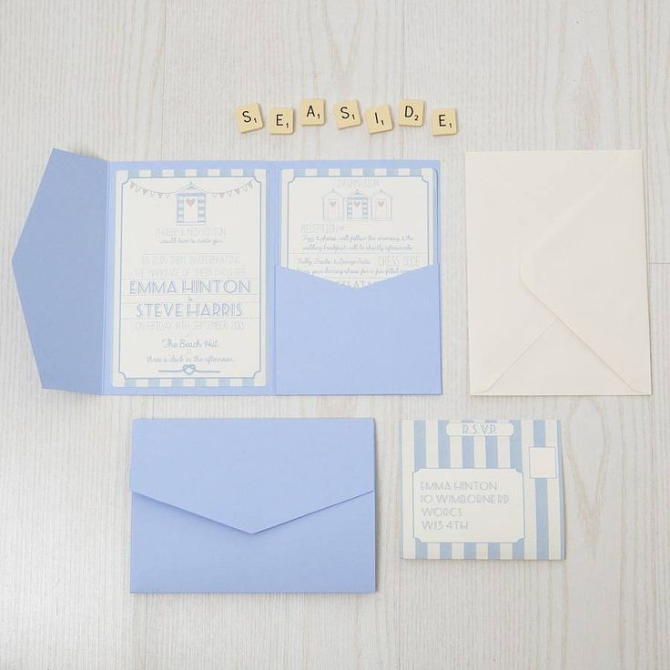 are labels on wedding invitations tacky%0A Pocketfold Beach Hut Wedding Invitation