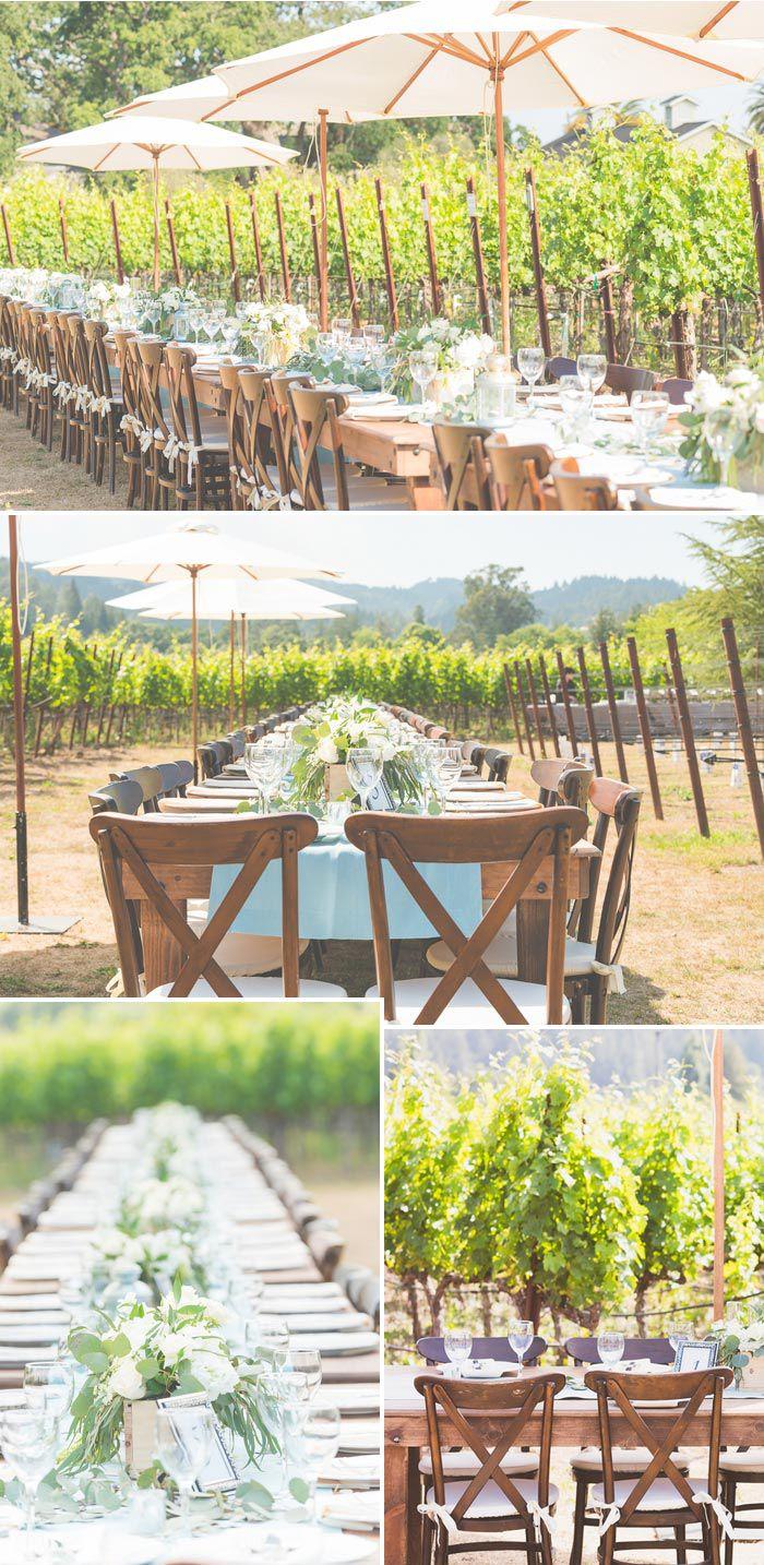 Weingut Hochzeit mit rustikaler Deko. Fotos: © PearlyHens Photography