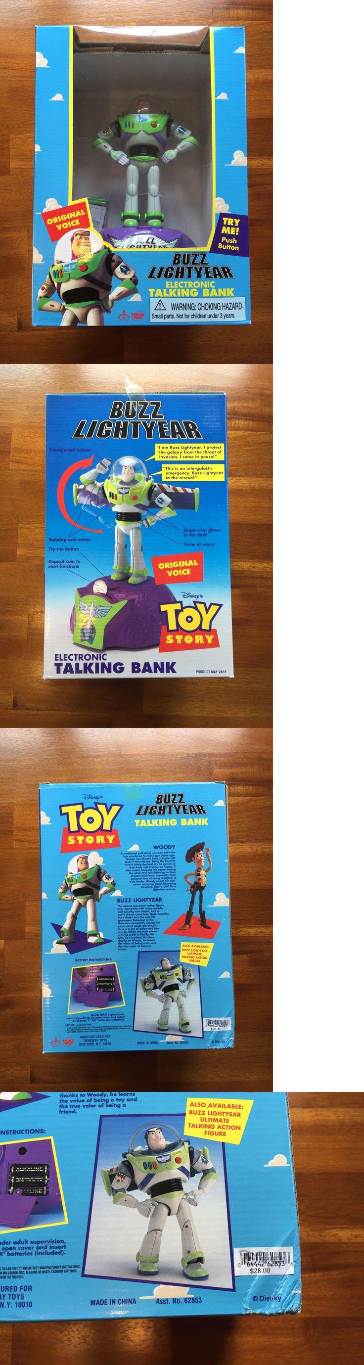 Toy story of terror 1 2 3 buzz lightyear of star command for sale - Toy Story 19223 Rare 1995 Toy Story Buzz Lightyear Electronic Talking Bank Nib Think Way