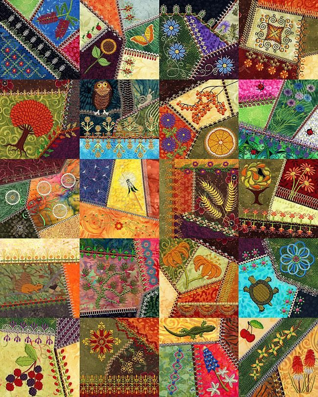 More Crazy Quilt Designs By Molly Mine Machine