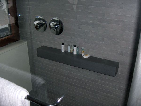 steel bathroom mouned shelf corner stainless nickel shower dp wall glass
