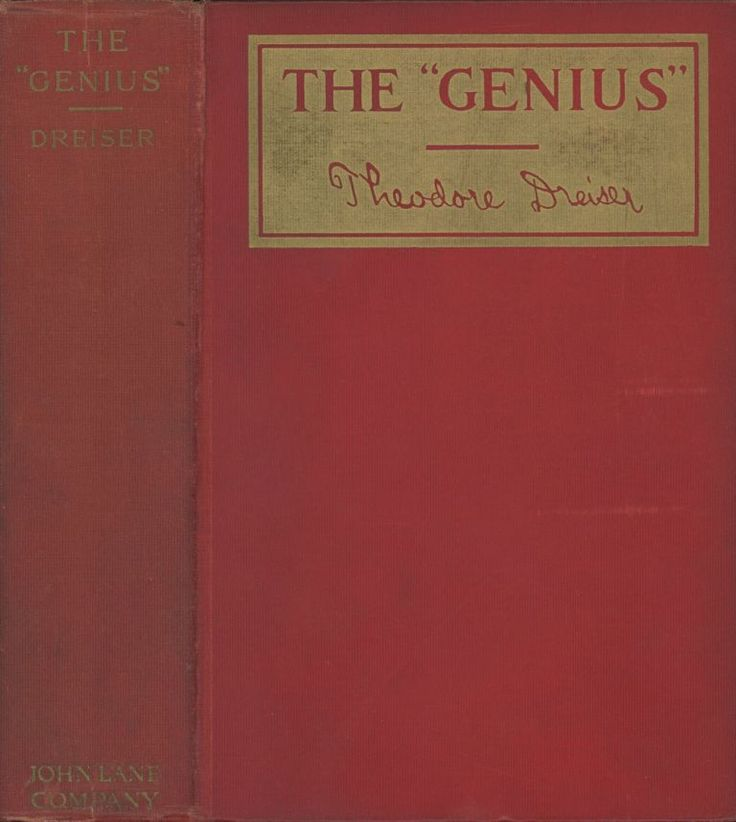 First edition of The Genius by Theodore Dreiser, 1915.