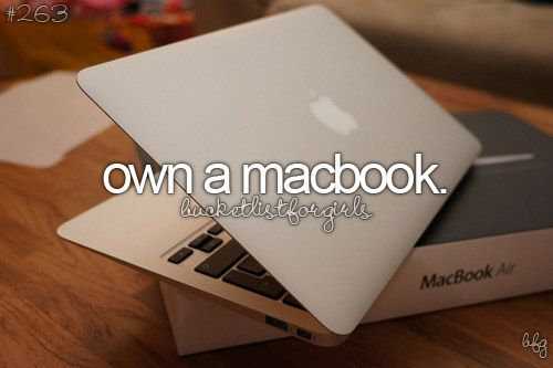 Done!!!! Addicted to macs. Family only owns apple products... :) we have a problem