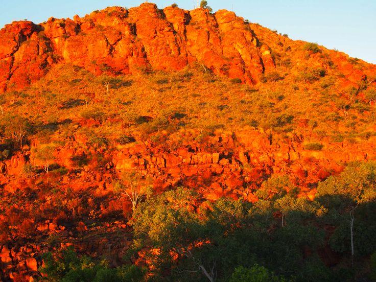 Beautiful colours at sunset in Kunnunurra, Western Australia