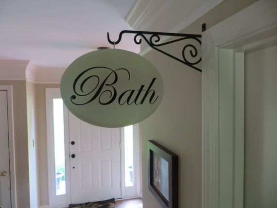 Custom Wooden Hallway Sign Vintage Shabby Chic French Country Bath Office Laundry Sign on Etsy, $36.00