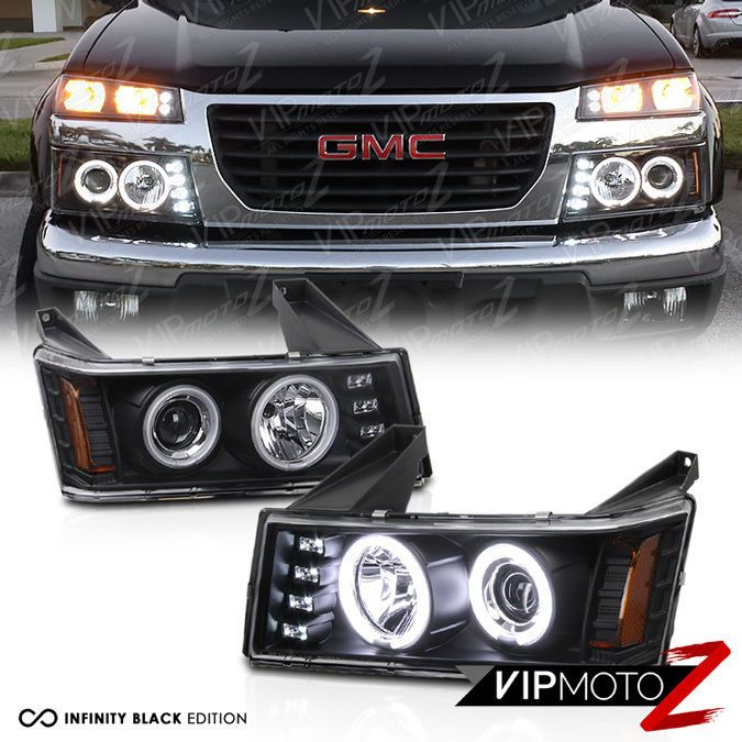 New Left+Right CCFL Halo LED Projector Headlight Assembly 04-12 CHEVY COLORADO #VIPMOTOZ