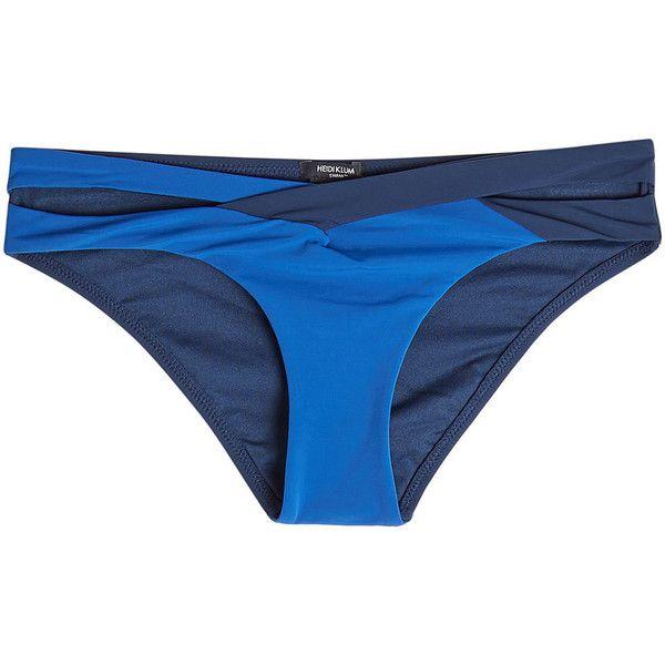 Heidi Klum Bikini Bottoms (435 SEK) ❤ liked on Polyvore featuring swimwear, bikinis, bikini bottoms, blue, bottom bikini, swim bikini bottoms, blue bikini, heidi klum bikini and blue swimwear