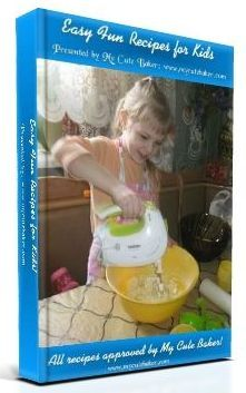 This is my own recipe e-book for children! Papa has a new widget/plugin thing to use on/with our site to sell our own things now! http://mycutebaker.com/reviewed-and-recommended/easy-fun-recipes-for-kids