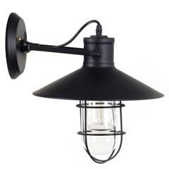 METAL WALL LAMP IN BLACK PLATING 33X27X32 CM