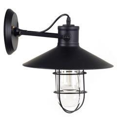 METAL WALL LAMP IN BLACK PLATING 33X27X32 CM