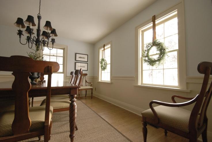 dining room in farrow & ball string