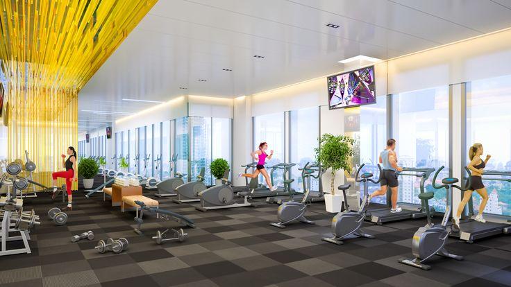 Interior gym fitness