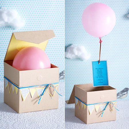 Einladungskarten basteln - die schönsten Ideen - luftballon  Rezept