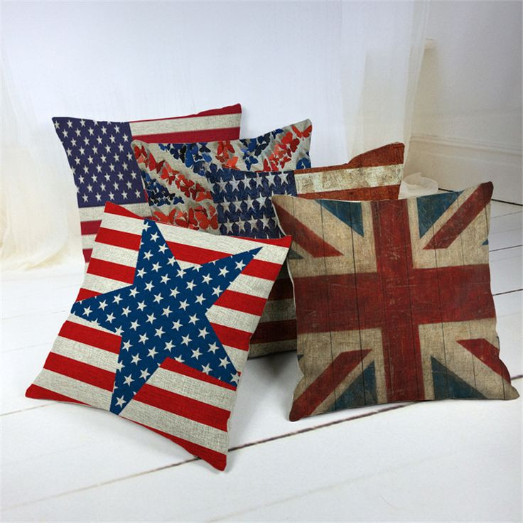 >> Click to Buy << British style Decorative Cushion Covers Rice word Flag Cushions For Sofas Scandinavian retro style Decorative Cushion Covers #Affiliate