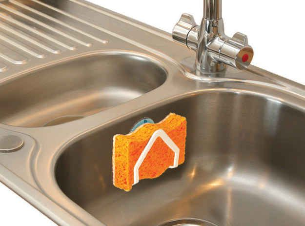 Buy a sponge holder. | 36 Little Things That Will Actually Make Your Life Better