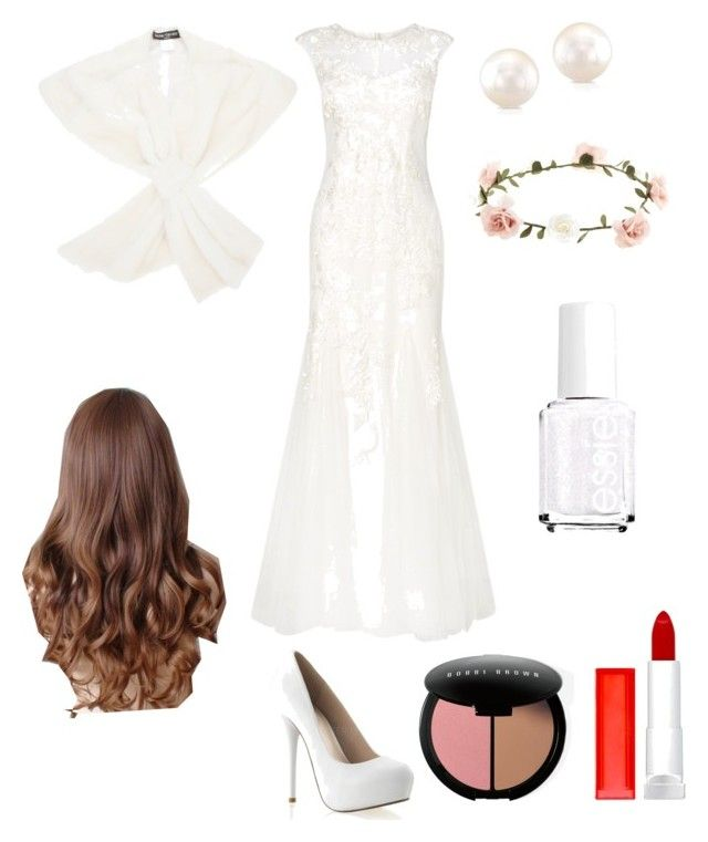 """""""Here comes the bride"""" by hollywood6162003 ❤ liked on Polyvore featuring Phase Eight, Maybelline, Accessorize, Bobbi Brown Cosmetics, Henri Gruber Paris and Essie"""