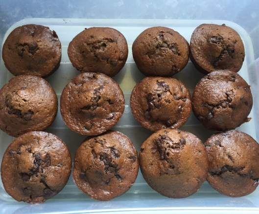 Recipe Chocolate Zucchini Banana Muffins by shantel1 - Recipe of category Baking - sweet
