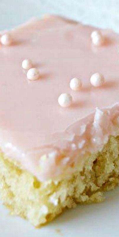 Pink Lemonade Sheet Cake  ❊
