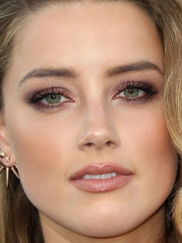 Close-up of Amber Heard at the 2015 premiere of 'Magic Mike XXL'. http://beautyeditor.ca/2015/07/02/best-celebrity-beauty-looks-barbara-palvin