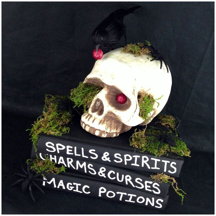 Halloween Project Craft - Skull & Spell Books - Created by KraftyScout aka Tracey Powell
