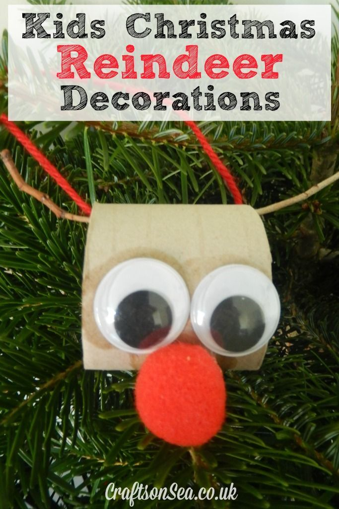 Toilet Roll Christmas Reindeer Decorations - Crafts on Sea