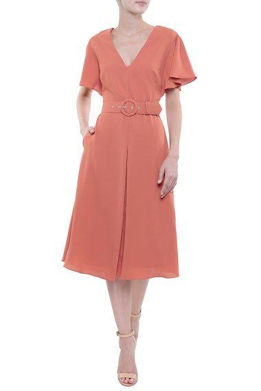 Vestido Midi - Vestido Midi Crepe Isabela | Amissima