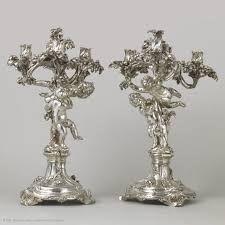 1757. François-Thomas Germain. Paire de candélabres en argent. Commande de Joseph Ier roi du Portugal. Musée du Louvre.