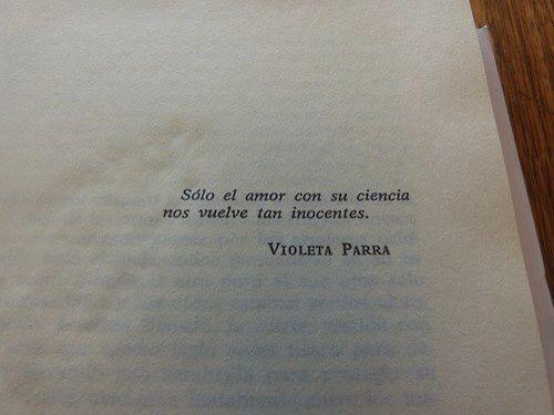 Amor. Violeta Parra