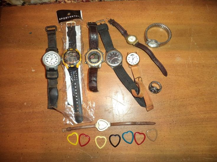 Vintage Lot of Modern Watches Parts or Repair Fossil Gitano Cherokee Armitron ++