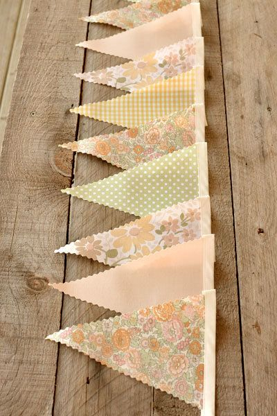Vintage inspired bunting. love the colors!