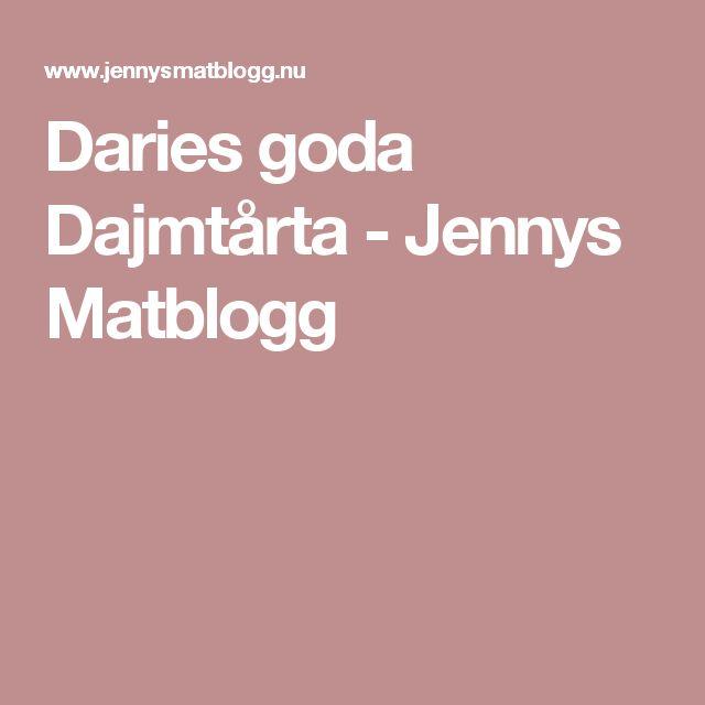 Daries goda Dajmtårta - Jennys Matblogg
