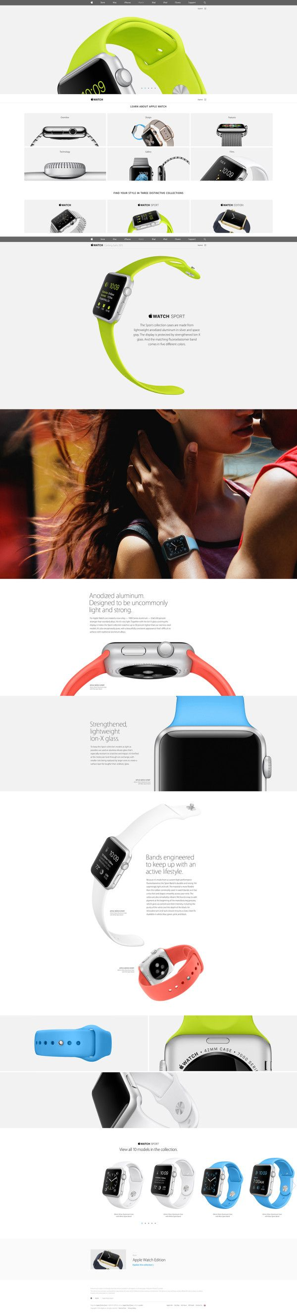 Apple's new #AppleWatch #webdesign #apple #paralax on #Twitpic
