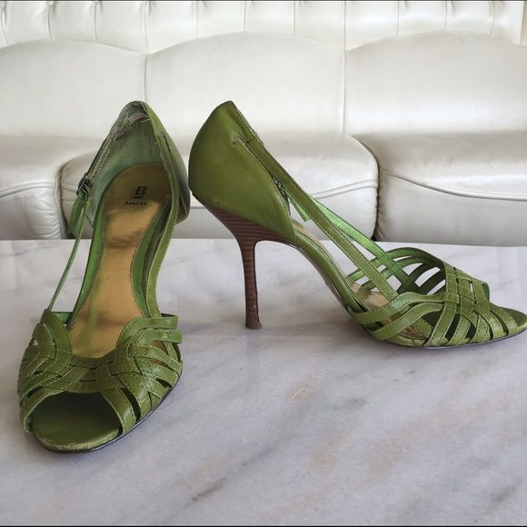 Lime Green Baker Strappy Heels Lime Green Baker Strappy Heels - great for the spring and summer! Bakers Shoes Heels
