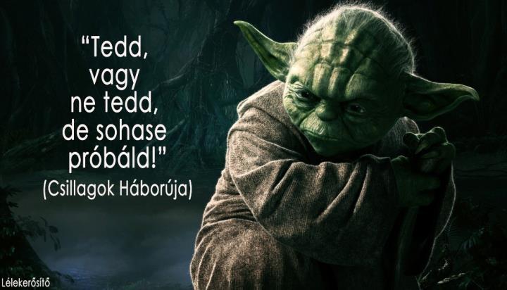 """""""Tedd, vagy ne tedd, de sohase próbáld!"""" (Star Wars V.: A Birodalom visszavág c. film) - A kép forrása: Lélekerősítő # Facebook"""