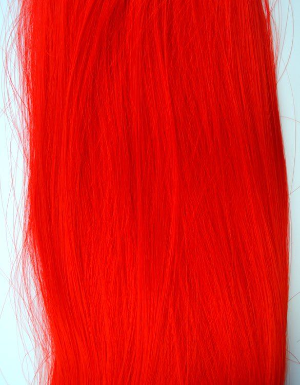 Fire Engine Red Loose Synthetic Hair