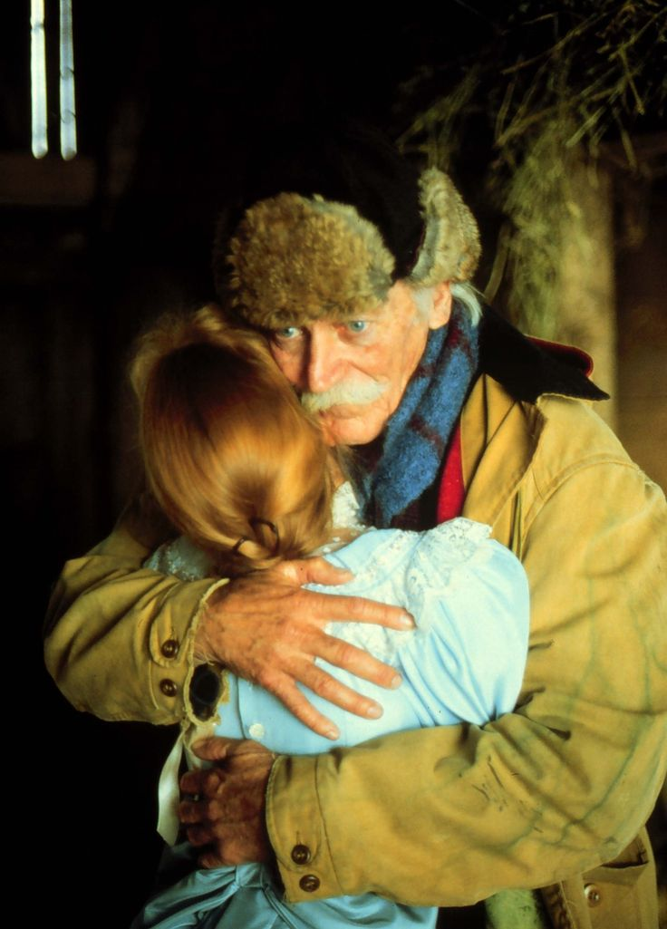 A rare tender moment between Matthew and Anne - 'Anne of Green Gables'
