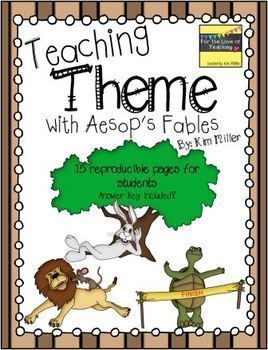 Finding the theme can be confusing for students. It's always so hard to teach! Using fables seems to help students identify themes a little easier, so I created this product for just that reason!   This product aligns perfectly with Common Core standards: RL.3.2, RL.4.2, RL.5.2, RL.6.2.  http://www.teacherspayteachers.com/Store/Kim-Miller-24