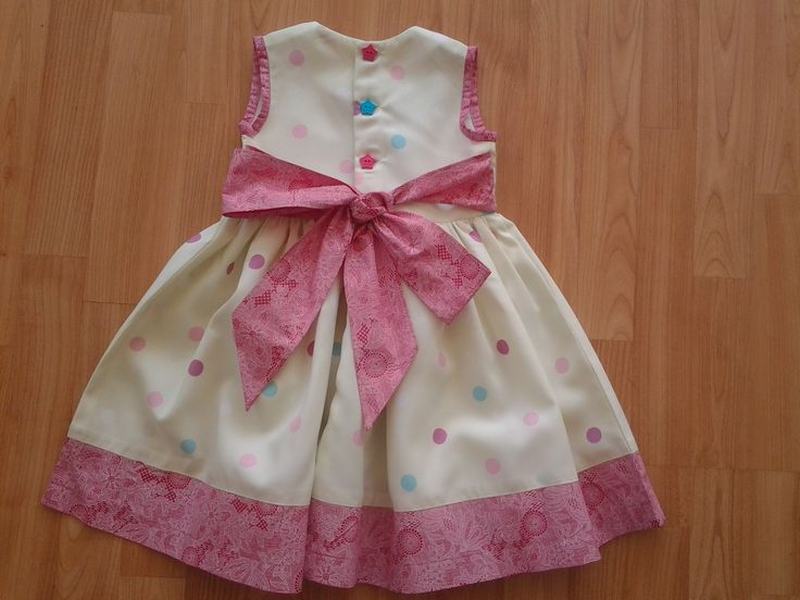 Back of African print polkadot dress